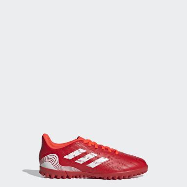 Chaussure Copa Sense.4 Turf rouge Enfants Soccer