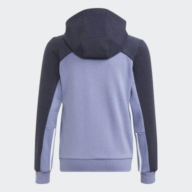 Felpa con cappuccio adidas Colorblock Full-Zip Viola Ragazza Sportswear