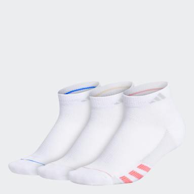 Women's Training White Superlite Stripe Low-Cut Socks 3 Pairs