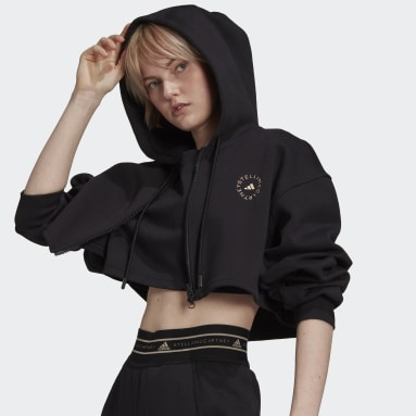 Women Training Black adidas by Stella McCartney SC Cropped Full Zip Hoodie