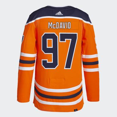 Men Hockey Orange Oilers McDavid Home Authentic Jersey