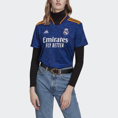Camiseta segunda equipación Real Madrid 21/22 Azul Mujer Fútbol