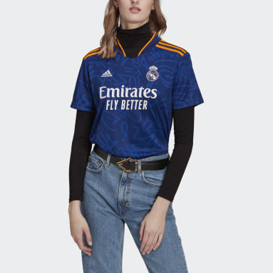 Jersey Visitante Real Madrid 21/22 Azul Mujer Fútbol