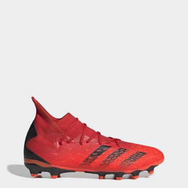 Muži Fotbal červená Kopačky Predator Freak.3 Multiground