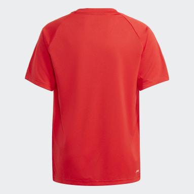 Boys Football Red adidas Sereno AEROREADY Tee