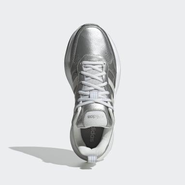 Sapatos Strutter Prateado Mulher Ginásio E Treino