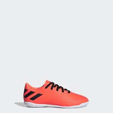 Jungen Futsal Nemeziz 19.4 IN Fußballschuh Orange