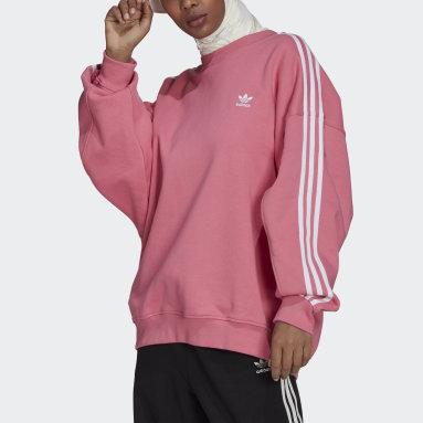 Women's Originals Pink Adicolor Classics Oversized Sweatshirt