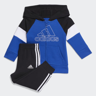 Infant & Toddler Training Blue Pieced Fleece Jacket and Joggers Set