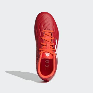เด็กผู้ชาย ฟุตบอล สีแดง รองเท้าฟุตบอล Copa Sense.3 Firm Ground