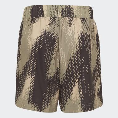 Jongens Tennis Beige Printed Short