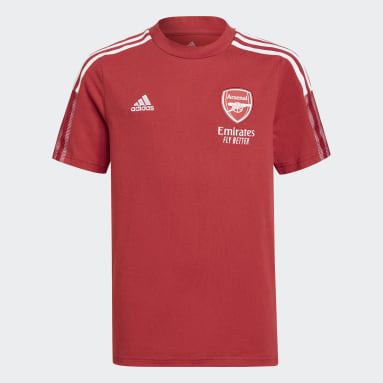 Kids Football Burgundy Arsenal Tiro T-Shirt