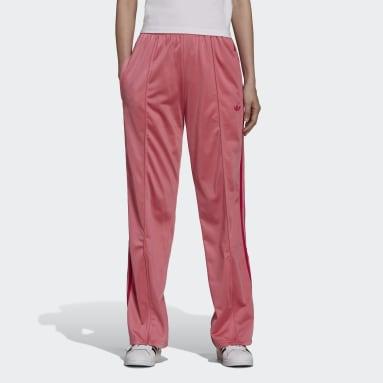 Pantalon de survêtement Flared Firebird with Front-Zip Flared Effect Rose Femmes Originals