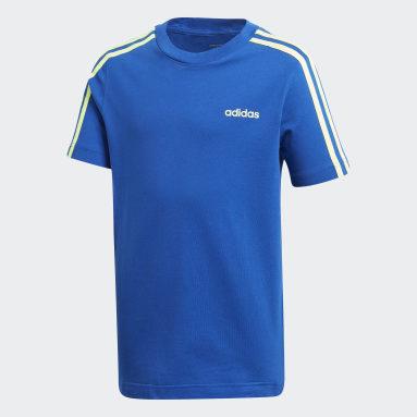 T-shirt Essentials3-Stripes Bleu Garçons Fitness Et Training