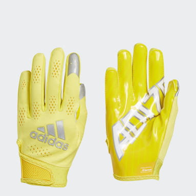 Men's Football Yellow Adizero 11 Turbo Gloves
