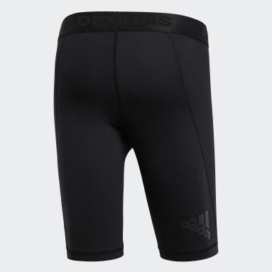 Men's Yoga Black Alphaskin Sport Short Tights