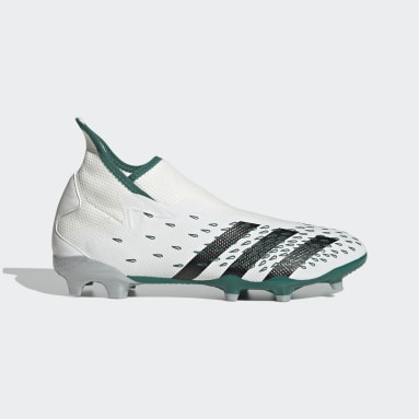 Football White Predator Freak.3 EQT Laceless Firm Ground Boots