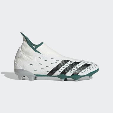 Soccer White Predator Freak.3 EQT Laceless Firm Ground Cleats