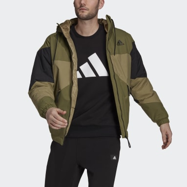Männer City Outdoor Back to Sport Insulated Hooded Jacke Grün
