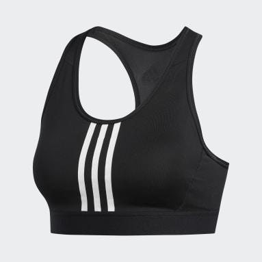 Ženy Joga čierna Športová podprsenka Don't Rest 3-Stripes