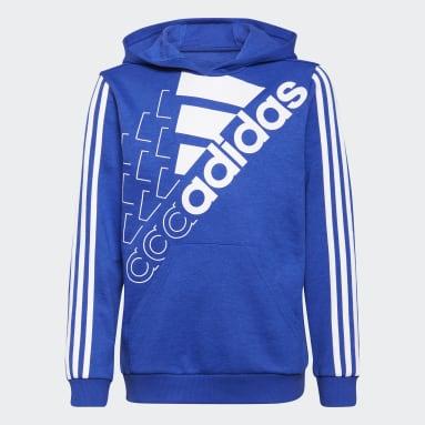 Kinderen Sportswear Blauw adidas Essentials Logo Hoodie (Uniseks)