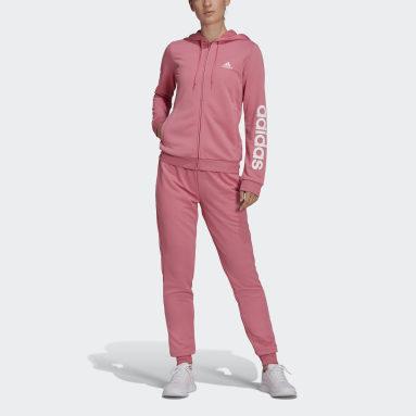 Kvinder Sportswear Pink Essentials Logo French Terry joggingdragt