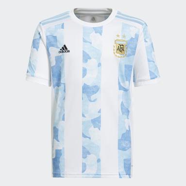 Kinder Fußball Argentinien Heimtrikot Weiß