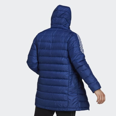 Parka Essentials Down Bleu Hommes City Outdoor