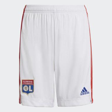 Pantalón corto primera equipación Olympique de Lyon 21/22 Blanco Niño Fútbol