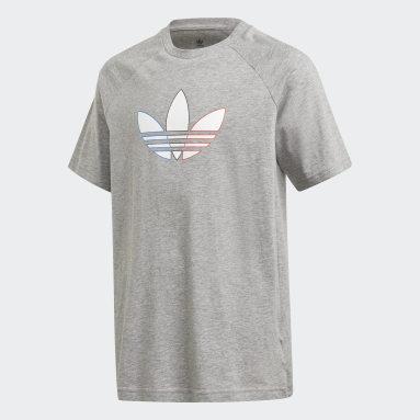 T-shirt Adicolor Graphic gris Adolescents Originals