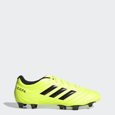 Calzado de Fútbol Copa 19.4 Terreno Firme Amarillo Hombre Fútbol