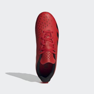 Boys Football Red Predator Freak.4 Flexible Ground Boots