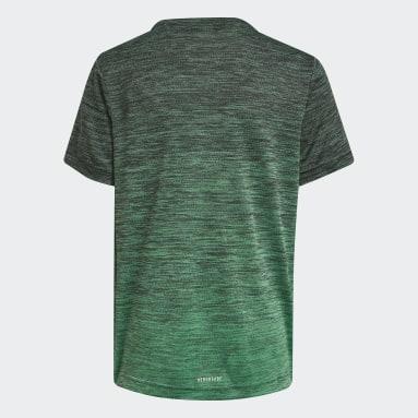 Jungen Fitness & Training AEROREADY Gradient T-Shirt Grau