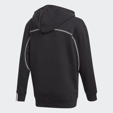 Sweat-shirt à capuche R.Y.V. Noir Enfants Originals