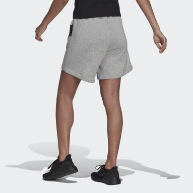 Ženy Sportswear šedá Šortky adidas Sportswear Studio Lounge Fleece