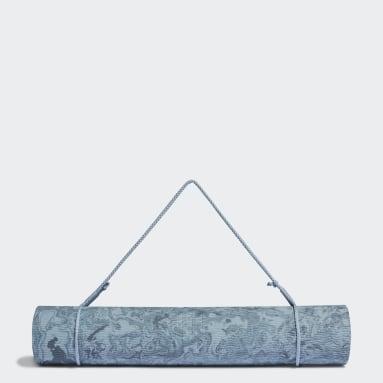 Fitko modrá Podložka Camouflage Yoga