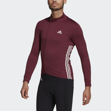 Men Cycling Burgundy The COLD.RDY Long Sleeve Cycling Jersey
