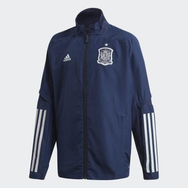 Chaqueta presentación España Azul Niño Fútbol
