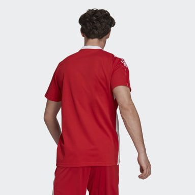 Polo Ajax Tiro Rojo Hombre Fútbol