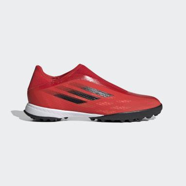 Calzado de Fútbol X Speedflow.3 Sin Cordones Pasto Sintético Rojo Fútbol
