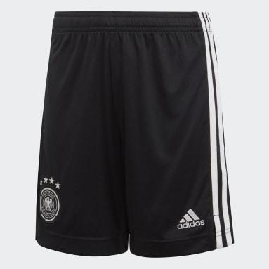 Kids Football Black Germany Home Shorts