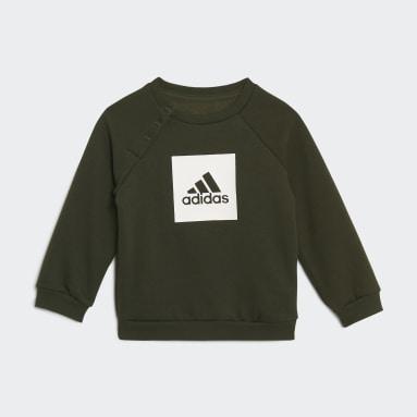 Kids Sportswear Black 3-Stripes Fleece Jogger Set