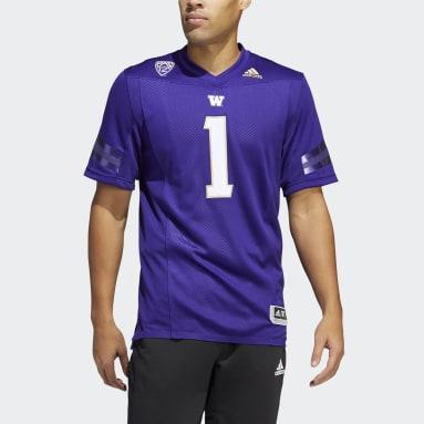 Men's Football Purple Huskies Home Jersey