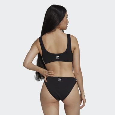 Frauen Originals Adicolor Classics Primeblue Bikinioberteil Schwarz