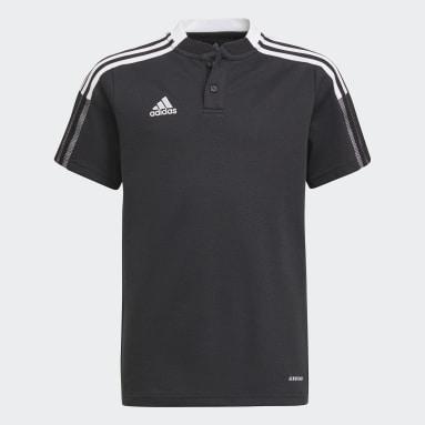 Kids Football Black Tiro 21 Polo Shirt