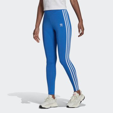 Women Originals Blue Adicolor Classics 3-Stripes Leggings