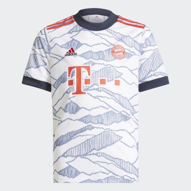 Kinder Fußball FC Bayern München 21/22 Ausweichtrikot Weiß