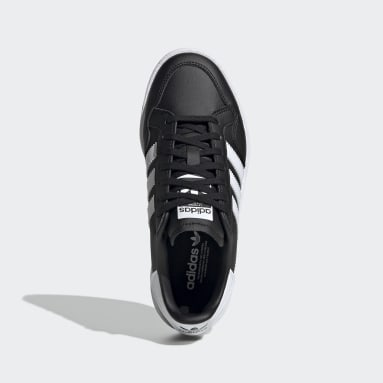 Youth 8-16 Years Originals Black Team Court Shoes