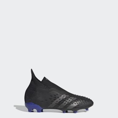 Kids Football Black Predator Freak+ Firm Ground Boots