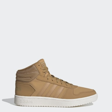 Women Basketball Brown Hoops 2.0 Mid Shoes